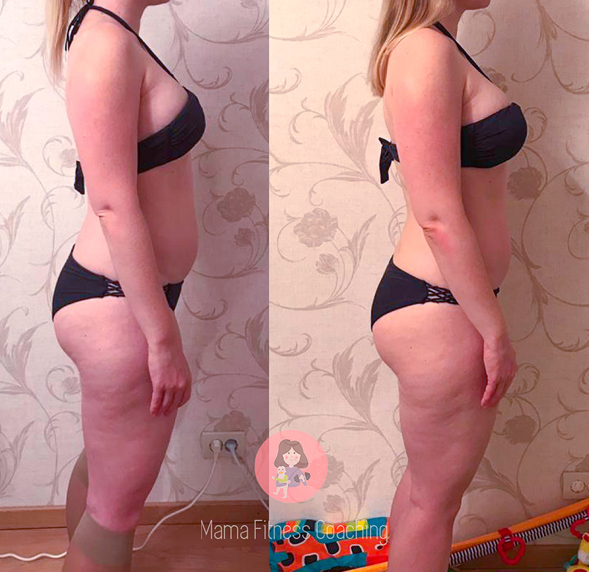 Client Transformation Before and After in Side View