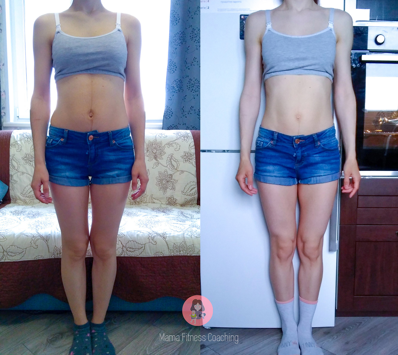 Client Transformation Before and After in Front View