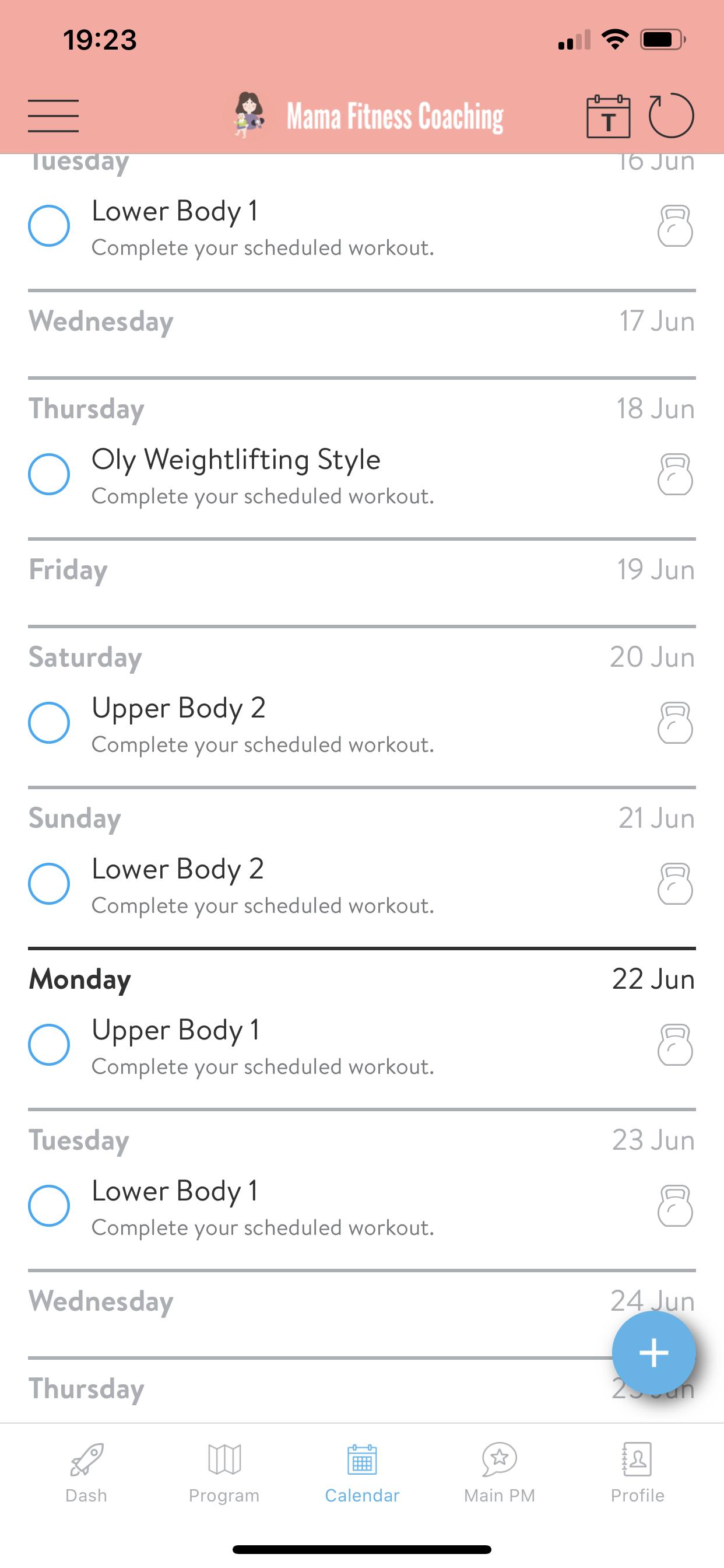 app Kalender Ansicht