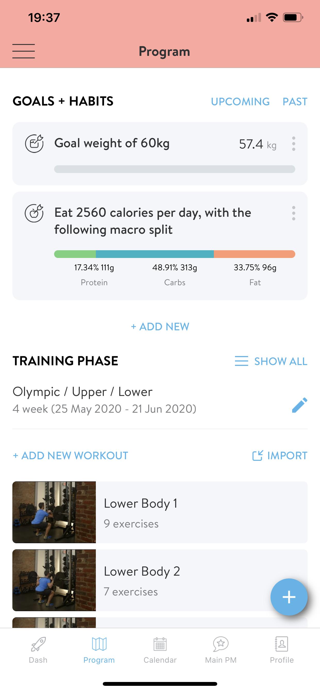 Ernährung Makros Ziel und Programmübersicht